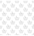 Shopping basket pattern seamless vector image vector image