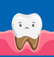 sick tooth with rotten roots vector image vector image