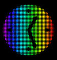 Spectral colored pixel clock icon