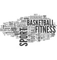 sports word cloud concept vector image vector image