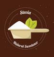 stevia natural sweetener inside spoon vector image vector image