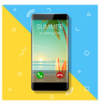 summer is calling you season concept background vector image vector image