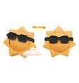 sun 3d icon plasticine art vector image vector image