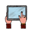 tablet device icon vector image vector image