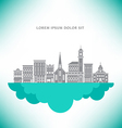Town Buildings Cloud vector image vector image