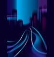 traffic shiny trails of the night city road vector image