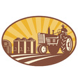 Vintage tractor retro vector | Price: 1 Credit (USD $1)