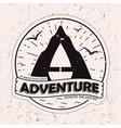 vitage monochrome outdor adventures logo design vector image vector image