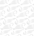 White abstract sea wave shapes seamless vector image vector image