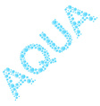Aqua from water letters vector image