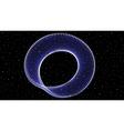 Infinite shining symbol limitless blue vector image