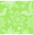 Seamless green flower background vector image