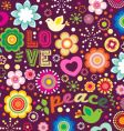 groovy love and peace background