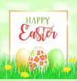 happy easter card banner flyer invitation vector image