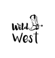 Cowboy boot wild west design isolated vector image