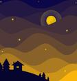 night sky vector image