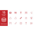 15 percussion icons vector image vector image
