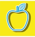 apple fruit isolated icon design vector image vector image