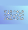 banner with robot icons on blue background vector image vector image