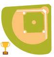 Baseball field cartoon icon batting design