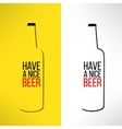 beer bottle design background with a cool vector image vector image