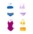 bikini bathing suit swim suit vector image vector image