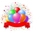 birthday balloons design vector image vector image