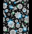 black christmas seamless pattern background vector image vector image
