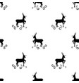 black deer seamless pattern fashion graphic vector image