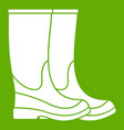 boots icon green vector image vector image