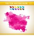Bright Pink Watercolor Artistic Splash for Design vector image vector image