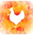 Bright polygon of a hen Happy vector image vector image
