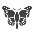 butterfly glyph icon easter and holiday vector image vector image
