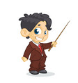 cartoon little boy presents vector image vector image