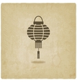 Chinese lantern old background vector image vector image