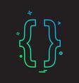 code icon design vector image vector image