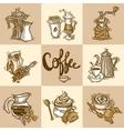Coffee Decorative Set vector image vector image