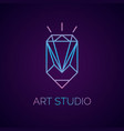 conceptual logo and label art studio vector image