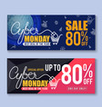 cyber monday sale banner background vector image vector image