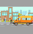 delivery service flat vector image vector image