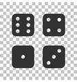 Devils bones Ivories sign Dark gray icon on vector image vector image