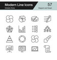 diagram and graph icons modern line design set 57 vector image vector image