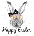 Easter Bunny Print vector image vector image
