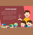 education and learningfamily and children thinkin vector image