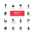 fashion concept beauty - line design icons set vector image vector image
