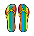 flip flops slippers symbol icon design vector image