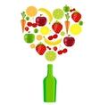 fresh fruits vector image vector image