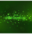 glitter and glowing light on dark green vector image vector image