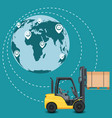 global network of commercial warehouse vector image vector image