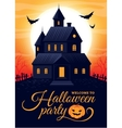 halloween house party vector image
